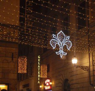 Julpynt i Florens
