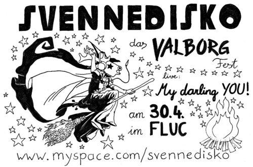 Svennedisko - Das Valborg Fest - Flyer